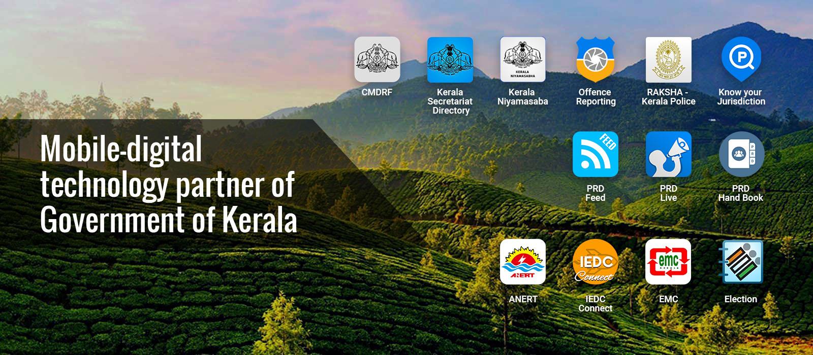 Mobile digital technology patner for Goverment of Kerala
